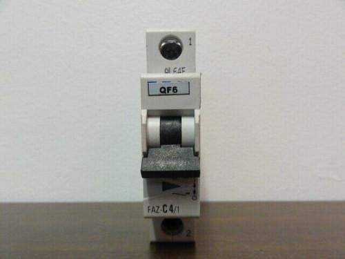 EATON CORPORATION FAZ-C4/1 CIRCUIT BREAKER - 1-POLE 230/400V, 240/415V