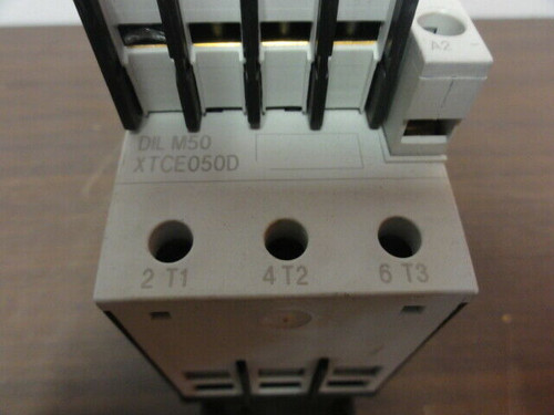 Eaton DIL M50 XTCE050D Magnetic Contactor w/ DIL M150-XHI22 XTCEXFBG22 Cnt Block