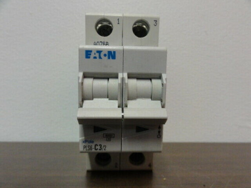 EATON PLS6-C3/2 2 POLE, 3A, CIRCUIT BREAKER