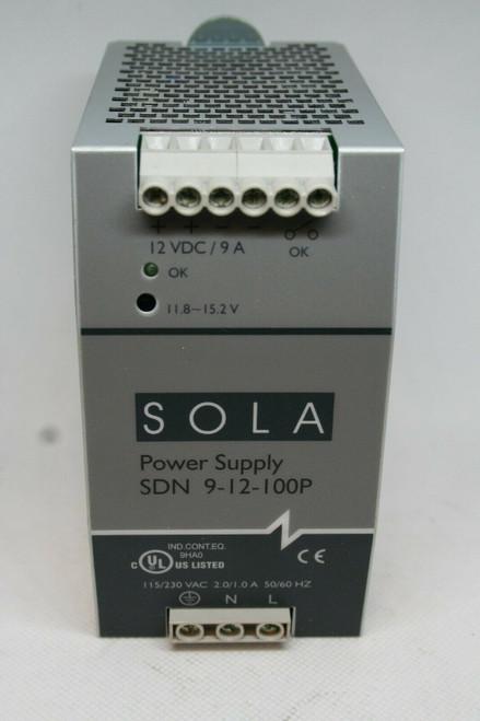Emerson Sola Model SDN -9-12-100P Power Supply, 115-230V, 2.0A, 50/60Hz