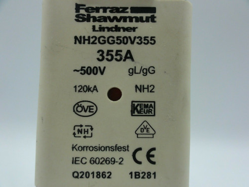 Ferraz Shawmut 355A NH2GG50V355 Fuse