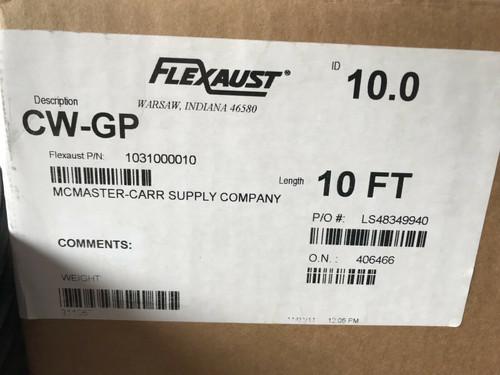 """FEXAUST 10"""" X 10' HOSE, Model CW-GP"""