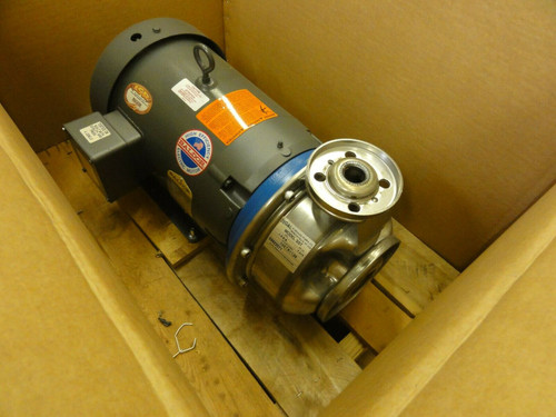 G&L STAINLESS STEEL PUMP, MODEL SST 1X2-8, WITH BALDOR 10HP MOTOR