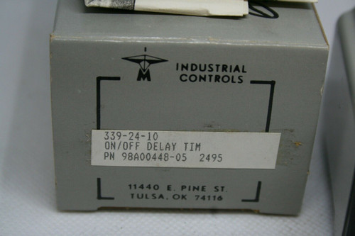 Industrial Controls Signaline 339-24-10 On/Off Delay Timer, P/N 98A00448-05 *NEW