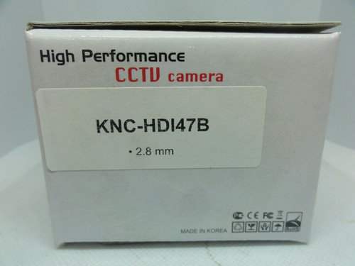 KT&C KNC-HDi47B CCTV Camera, 2.8mm, 12V, 240mA *NEW*