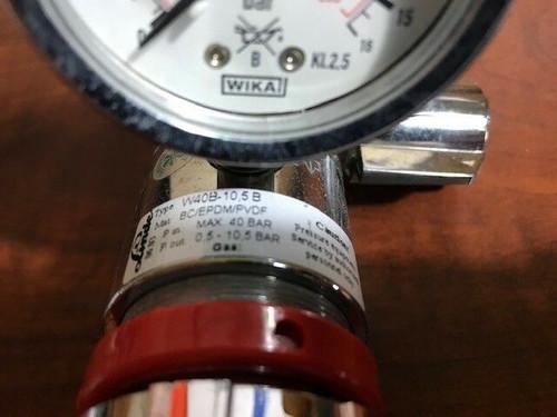 LINDE Stainless Steel Type W40B-10.5B Gas Regulator