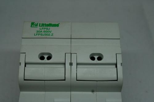 Littelfuse LFPSJ-302.Z Fuse Holder, 30A 600V, 2- Pole w/ Fuses