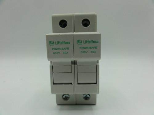 Littlefuse Power Safe 30A 600V 2 Pole Ser LPSC Class CC Fuse Holder