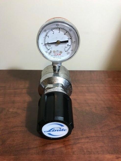 LINDE Stainless Steel Model 791598 Gas Regulator