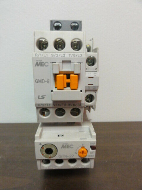 LS MEC GMD-9 Contactor w/ GTK-22 Thermal Overload Relay