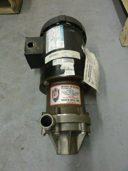 MARCH TE-7S-MD PUMP w/ MRATHON P/N 155-022-10 Motor, 3/4HP