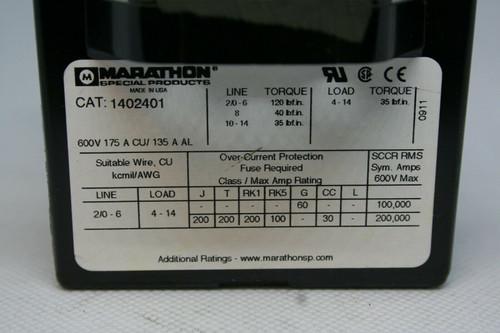MARATHON 1402401 TERMINAL BLOCK 600V, 175A CU / 135A AL
