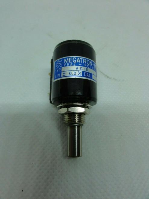 MEGATRON-MUNCHEN TYPE AC10 PRAZ POTENTIOMETER, WID.W: 5k +/- 3%, LIN: +/- 2%