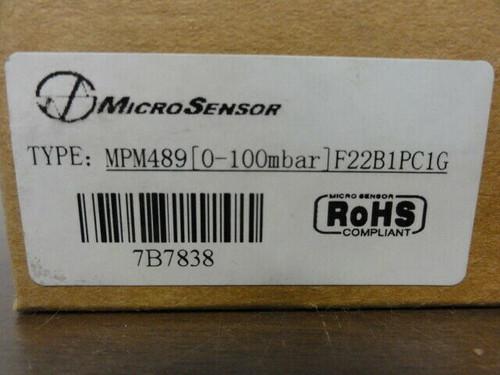 MicroSensor Model MPM489 Pressure Switch - 0-100mbar, F22B1C2G