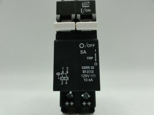 MidNite CBi DIN Mount 125V DC 5A 2-Pole MNEPV15-300 Circuit Breaker