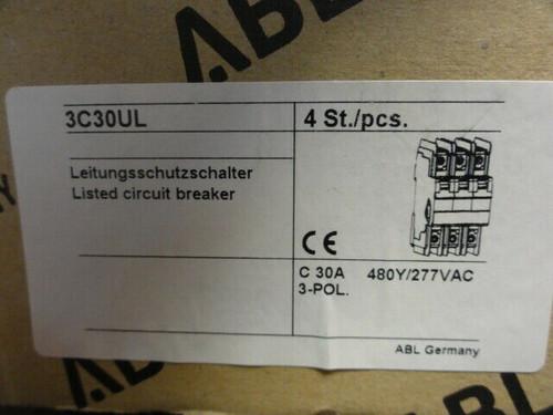 NEW (2) Altech ABL C30 3C30UL Circuit Breakers 3 POLE 480Y/277V AC 10kA