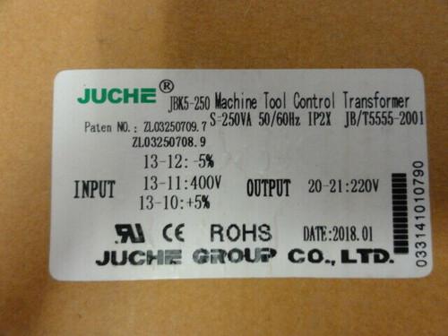 NEW Juche JBK5-250 Machine Tool Control Transformer - S=250VA 50/60Hz IP2X