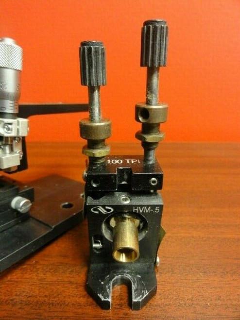 Newport HVM-.5 Vertical Drive Kinematic Mirror Mount w/ Linear Slide / Base Unit