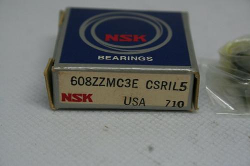 NSK MODEL 608ZZMC3E CSRIL5 BALL BEARING *NEW*