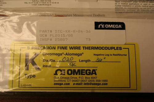 """Omega L-0044K P/N 5TC-KK-K-24-36 Precision Thermocouples 36""""-Length *NEW 5 Pack*"""
