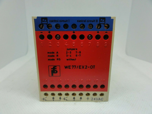 PEPPERL+FUCHS MODEL WE 77/Ex-2-OT SAFETY RELAY SWITCH ISOLATOR