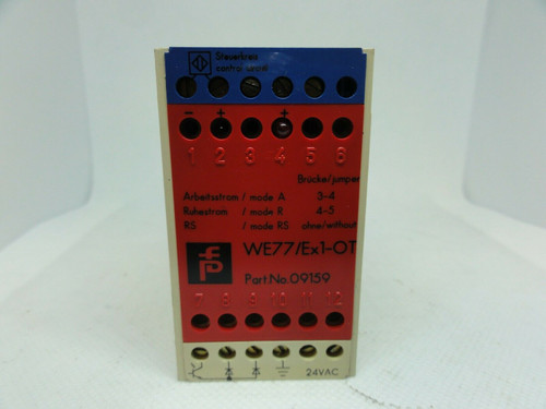 PEPPERL+FUCHS MODEL WE77/EX1-OT SAFETY RELAY SWITCH ISOLATOR
