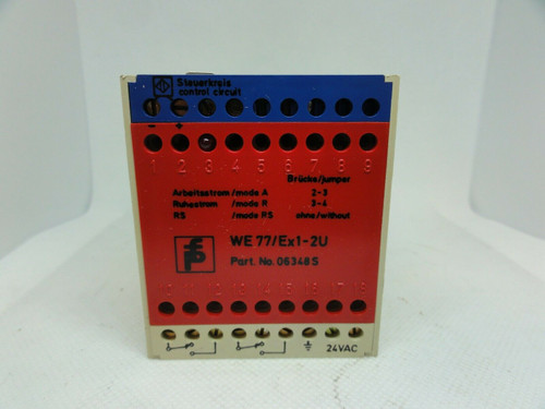 PEPPERL+FUCHS MODEL WE77/EX1-2U SAFETY RELAY SWITCH ISOLATOR, 24VAC