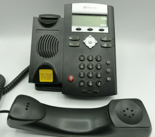 Polycom SoundPoint IP 331 SIP VoIP PoE Desktop Business Office Phone/Power Cord