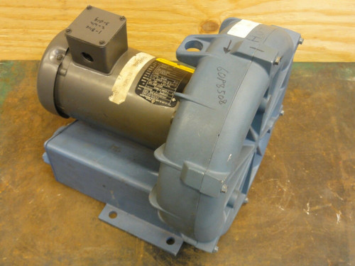 Rotron Regenerative Blower, 2 HP BALDOR MOTOR, 230-460V, 3 PHASE 3450 RPM