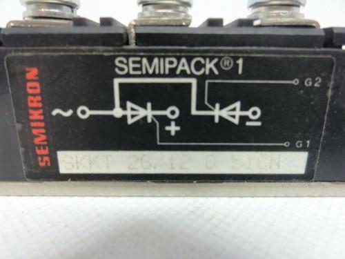 SEMIKRON SEMIPACK 1 POWERBLOCK MODULE - MODEL SKKT 26/12 O 51CN