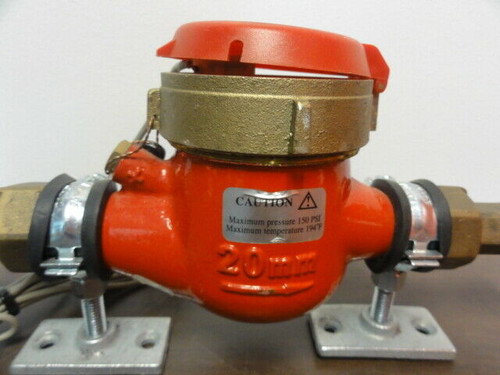 Seametrics MJHR-100-10P Hot Water Pulse Water Meter