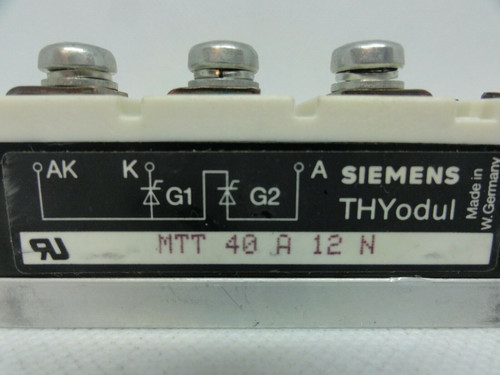 SIEMENS MTT 40A 12N POWERBLOCK MODULE