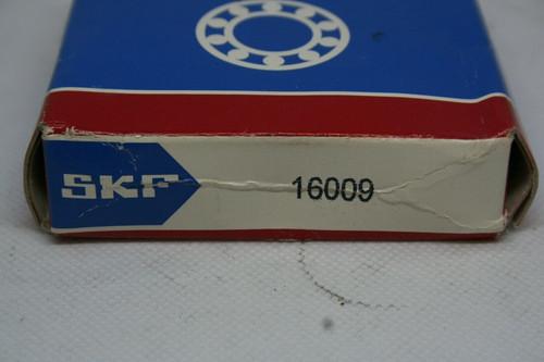 SKF MODEL 16009 SINGLE ROW BALL BEARING, 75X45X10mm *NEW*