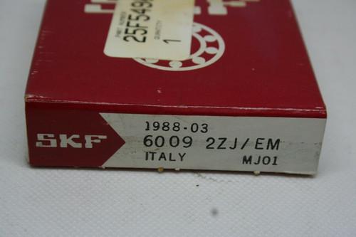 SKF MODEL 6009 2ZJ/EM BEARING *NEW*