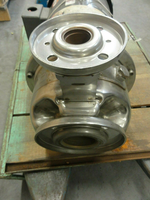 STAINLESS STEEL END SUCTION CENTRIFUGAL PUMP WITH 10HP BALDOR MOTOR