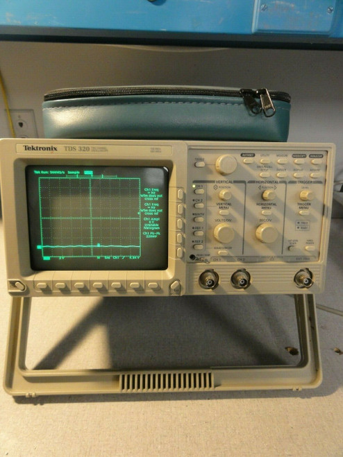 TEKTRONIX TDS320 2 CHANNEL DIGITAL OSCILLOSCOPE 100 MHz 500 MS/s w/ PRINTER