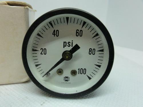 """U.S. Gage P500 PSI Pressure Dial Indicator Gauge 0-100 PSI, 1 1/2"""""""
