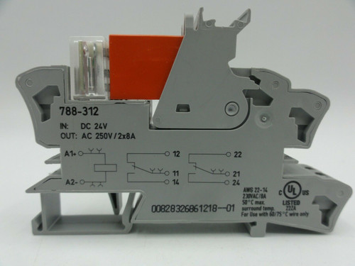 Wago 788-312 Relay Socket with Schrack RT424024 Relay