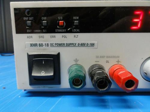Xantrex XHR 60-18 DC POWER SUPPLY, 0-60V, 0-18A