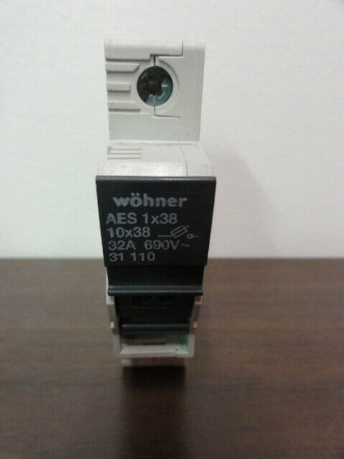 Wohner Model AES 1x38 31 110 Fuse Holder 32A 690V 1P
