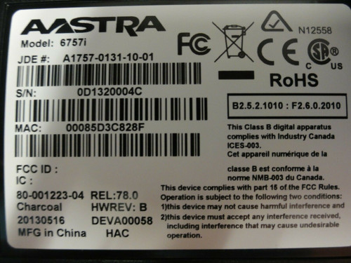 Aastra / Mitel 6757i IP VoIP SIP Phone with Aastra M675i Expansion Module