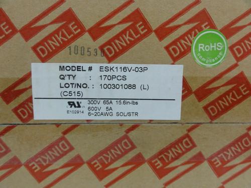 (170) Dinkle Model ESK116V-03P PCB Terminal Blocks