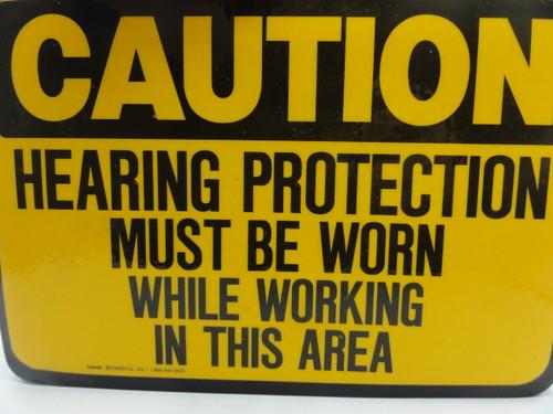 (23) Hearing Protection Warning Adhesive Signs