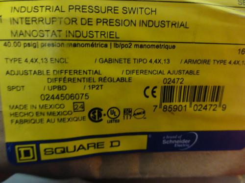 Square D GAW-4 Pressure Switch/Interruptor