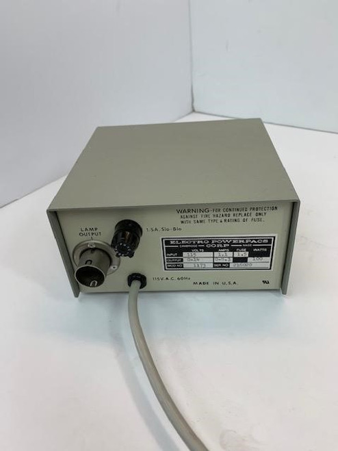 E. Leitz / Electro PowerPace Model 1173 Microscope Power Supply, 8.3-14 Volts