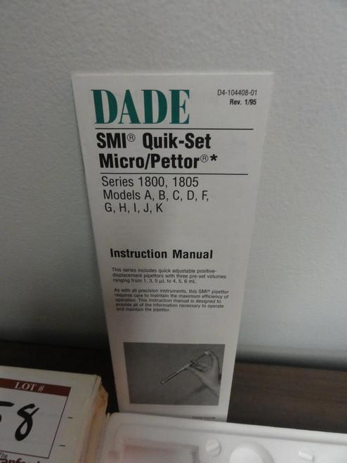 Dade SMI Quikset Micro / Pettor