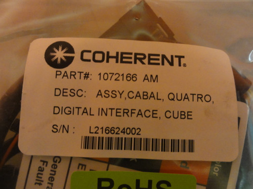 Coherent P/N 1072166 AM CUBE Assembly Cable, Quatro, Digital Interface