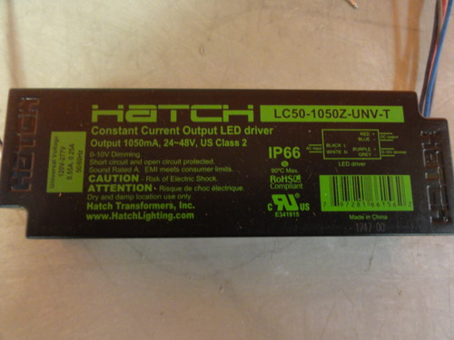 (7) Hatch LC50-1050Z-UNV-T Constant Current Output LED Drivers