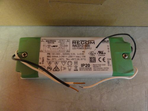Case of (9) RECOM RACD12-500 LED POWER SUPPLIES