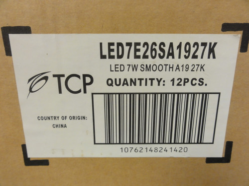 Case of (12) TCP LED7E26SA1927K Elite Series 40W Halogen Replacement Bulbs